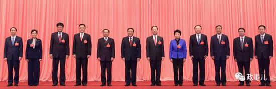 ▲图为江苏省委新一届省委常委