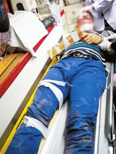 林伟光受伤被紧急送医