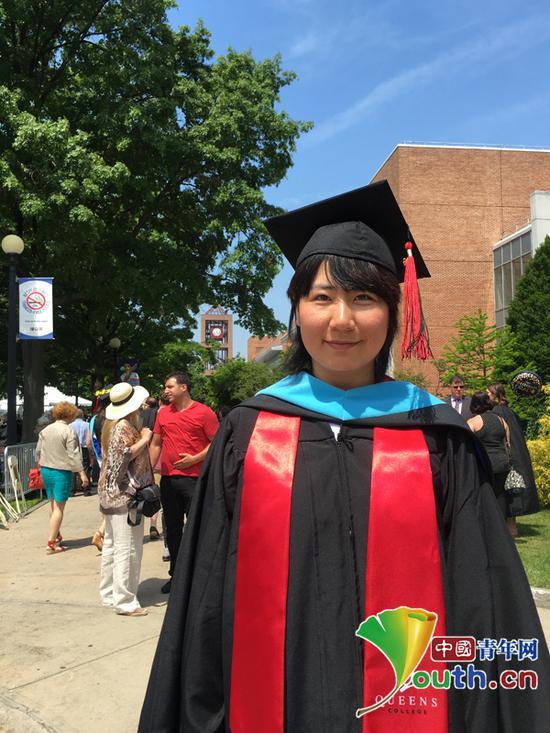 刘美取得美国纽约市立大学皇后学院特殊教育硕士学位。本人供图