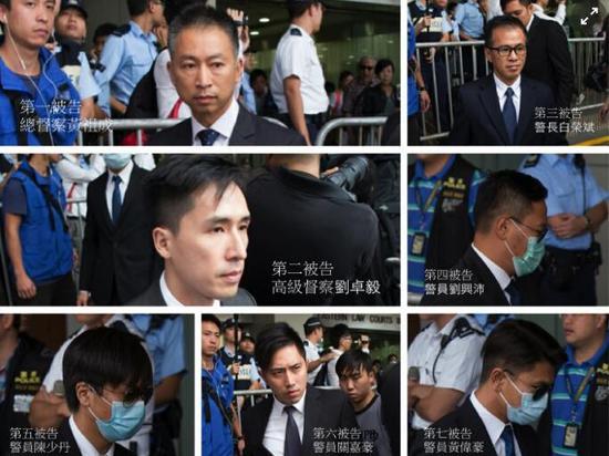 今日(17日)上午,区域法院法官宣判,7人各被判监两年、而陈少丹的普通袭击罪则另判一个月、同期执行。