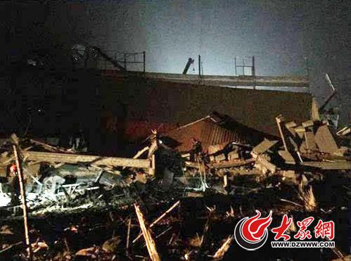济南高新区1203厂房坍塌事故现场资料图(图片来源:济南发布)
