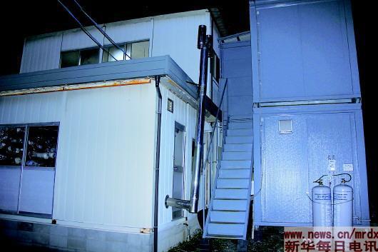 集装箱改造的宿舍。