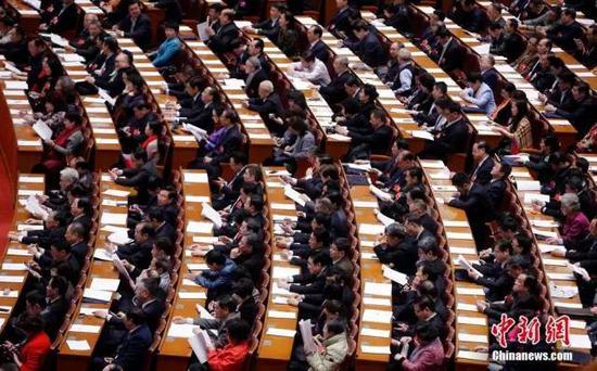 资料图:2016年3月10日,全国政协十二届四次会议在北京人民大会堂举行第二次全体会议。 中新社记者 汤彦俊 摄