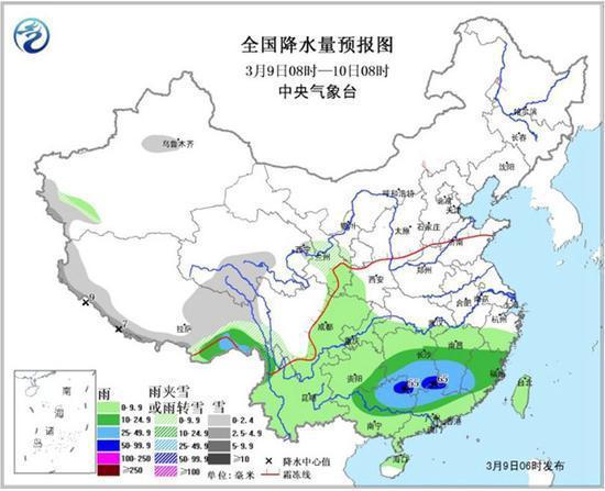 今天,南方较强降雨主要集中在广西、江西、湖南等地。