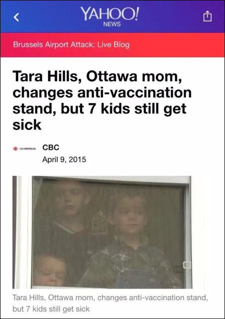 加拿大有个妈妈以前也一直热衷于反疫苗运动,但是她退出了反疫苗运动,原因是,她的7个孩子全部得了百日咳……