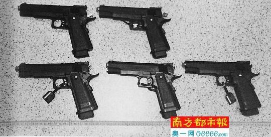 冯昕案中被认定为走私的枪支(部分)。受访者供图