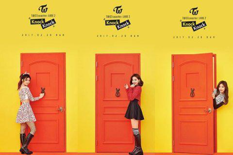 韩国TWICE的《Knock Knock》专辑照。