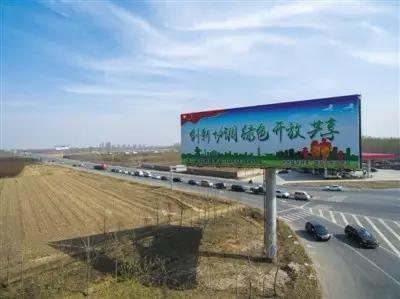 雄县一条省道附近的广告牌 新京报记者 李强摄