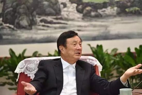 今年2月,任正非拜访了浙江。 图片来自浙江媒体