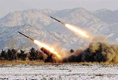 朝鲜发射导弹 材料图