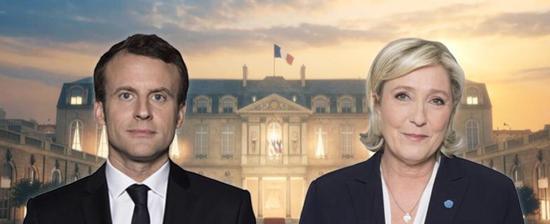 法国大选首轮投票结束 马克龙和勒庞进入第二轮