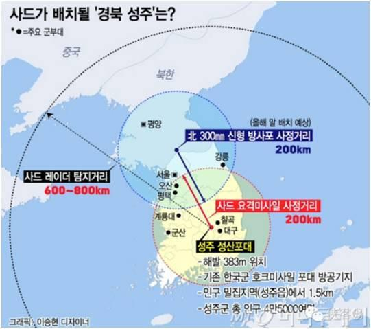 韩国国防部本人招供,首尔不在萨德的粉饰地区