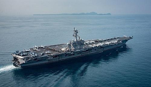 """资料图片:美国航母""""卡尔·文森""""号 (图片来源于美国海军官网)"""