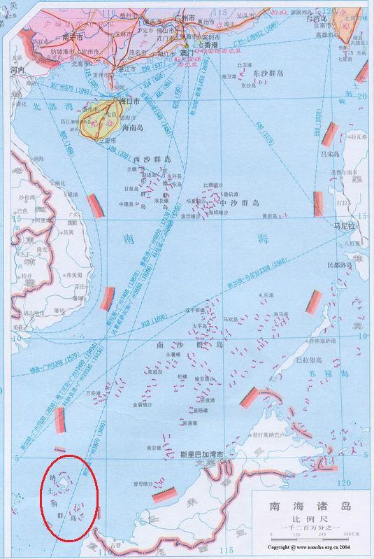 納土納群島地理位置