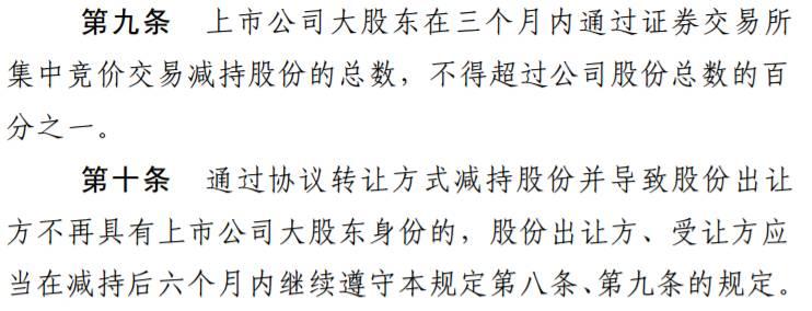 ▲截自《上市公司大股东、董监高减持股份的若干规定》