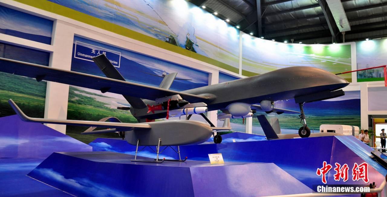 △CH-4中空长航时无人机体系表态珠海航展。