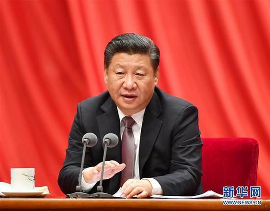 1月6日,中共中央总书记、国家主席、中央军委主席习近平在中国共产党第十八届中央纪律检查委员会第七次全体会议上发表重要讲话。新华社记者李涛摄