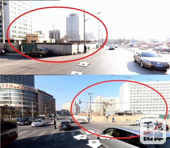 结合背街小巷整治,今年三月份,西城区广外街道马连道北路的违法建设终于全部拆完。四月份,一条崭新的马连道北路开始迎来送往。图为马连道北路整治前的违建。受访对象供图