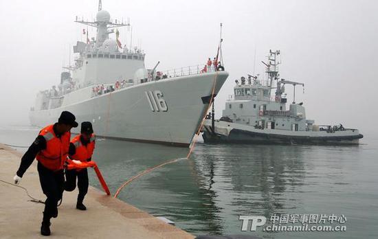 资料图:中国海军军港