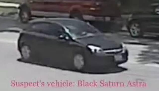 △监控拍摄到的可疑车辆。