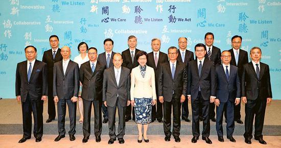 国务院21日公布香港特别行政区政府新班子人选任命(图片来源:香港明报)