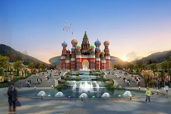 张家界大成俄罗斯国际马戏城效果图