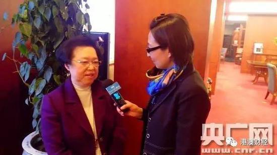 谭惠珠接受央广记者采访