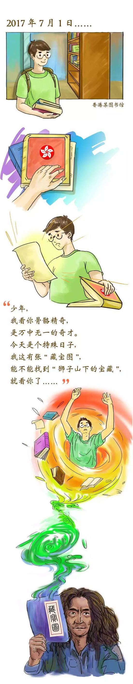 人民日报首推竖屏全景长卷:穿越香港20年