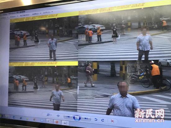 图说:人脸辨认体系拍摄行人闯红灯图。胡彦摄