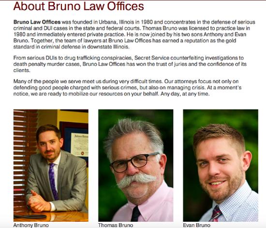 TomBruno所在的律所BrunolawOffice的官方介绍资料(官网截图)