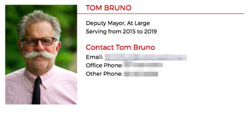 美国香槟市政府官网信息显示,TomBruno是香槟市副市长。(官网截图)