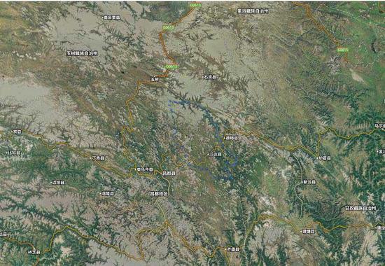 江达县地图