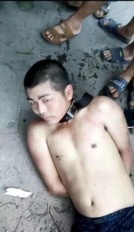 ▲姚常凤被抓现场。图片来自网络