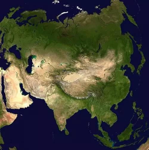 上亚洲地势图,感受一下~