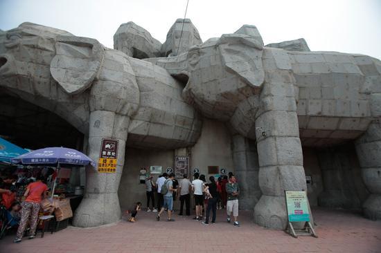 ▲2017年7月15日,八达岭野生动物园售票处,游客正在购票。