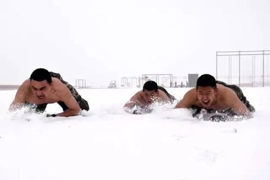 ▲雪中匍匐