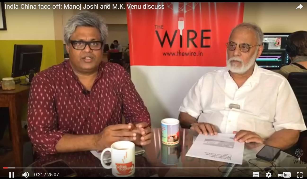 ▲印度火线网站记者此前视频采访了印度观察家基金会资深学者马诺吉·约什