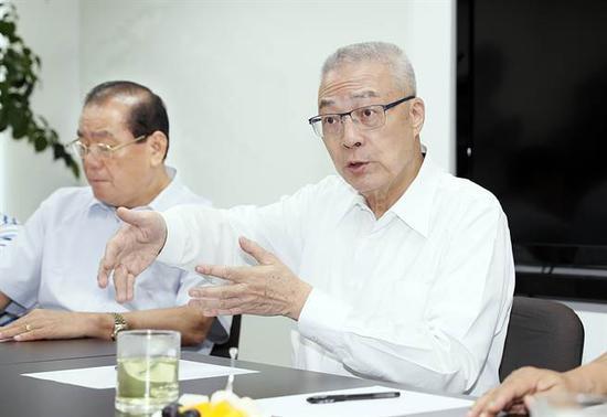国民党候任党主席吴敦义(图源:台湾中时电子报)