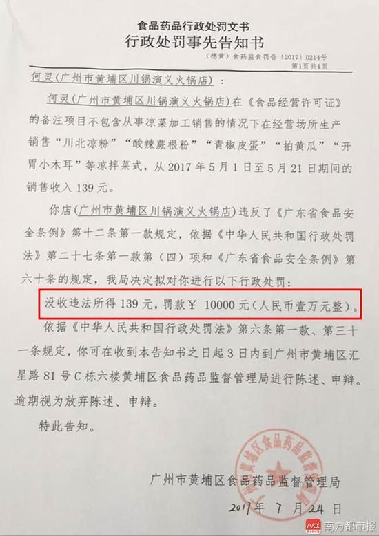 火锅店卖凉菜被罚1万 专家:有选择性执法之嫌