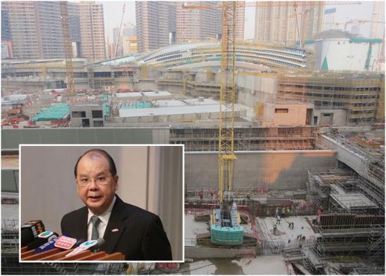 """张建宗称,如果没有""""一地两检"""",高铁香港段只是高速的城际直通车(资料图/东网)"""