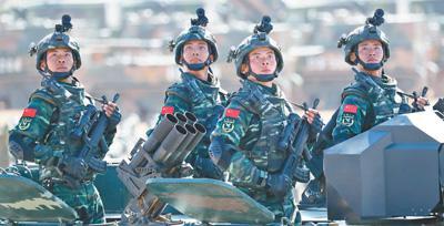庆祝中国人民解放军建军90周年阅兵在朱日和训练基地举行