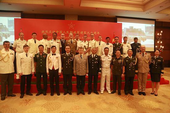 驻印武官团部分成员合影。