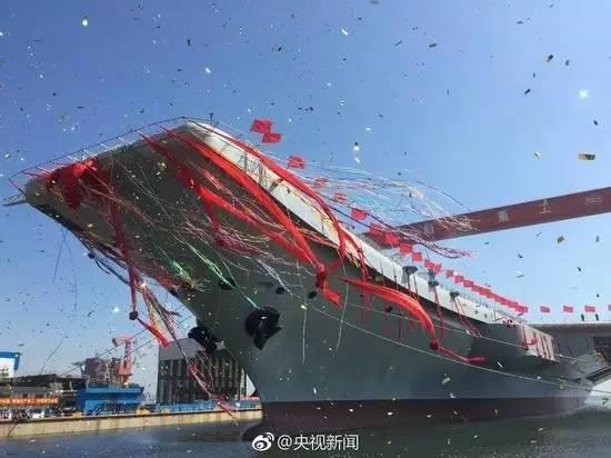 ▲资料图片:2017年4月26日上午,中国首艘国产航母在中国船舶重工集团公司大连造船厂举行下水仪式。