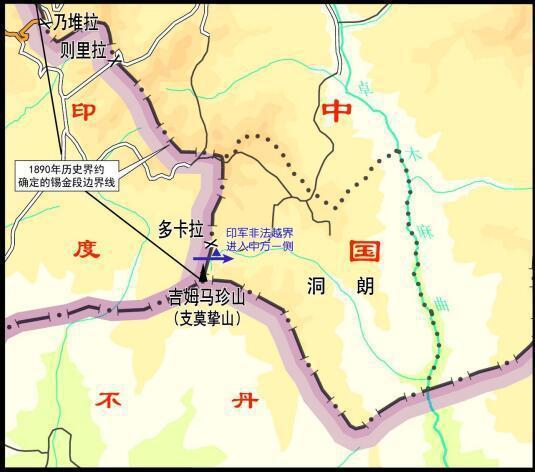 图一:印军越界地点示意图