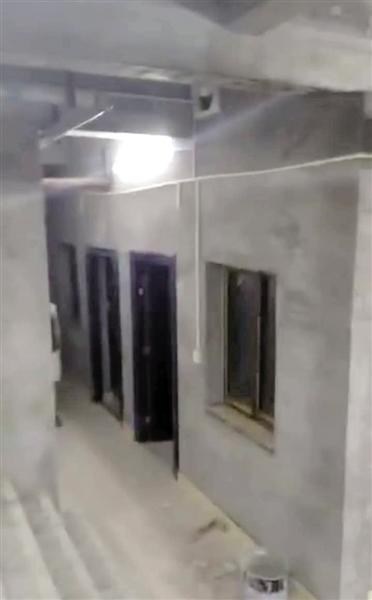 地下室基装基本完成。
