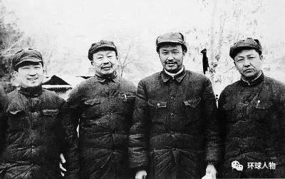 左起:马明芳、王维舟、乌兰夫、习仲勋。