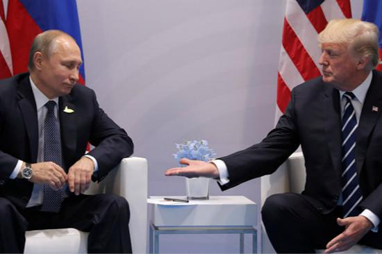 普京与特朗普(图片来源:《俄罗斯卫星通讯社》)