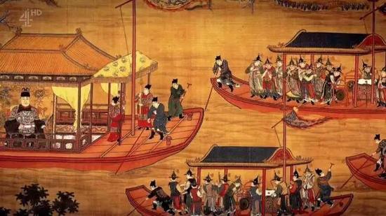 """一时间,平静的京杭大运河上,常常上演""""漂大木,蔽塞水面""""的壮观场面。"""