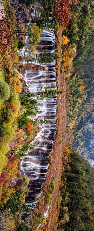 诺日朗瀑布下游的树正瀑布