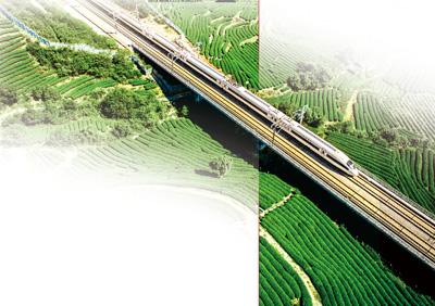 最美高铁穿越福建茶乡。陈琦辉摄